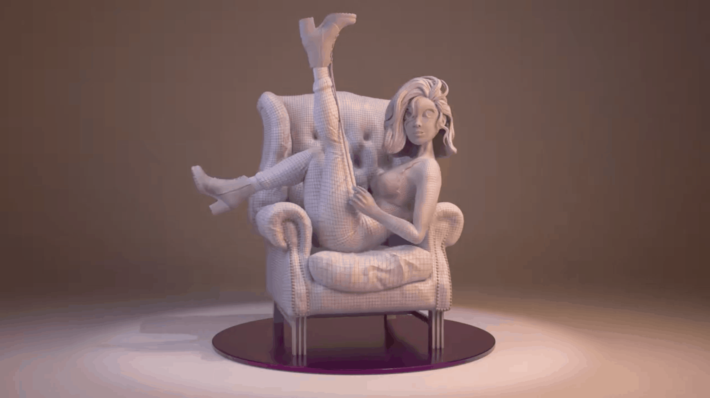 Girl & Sofa – Modelado 3D