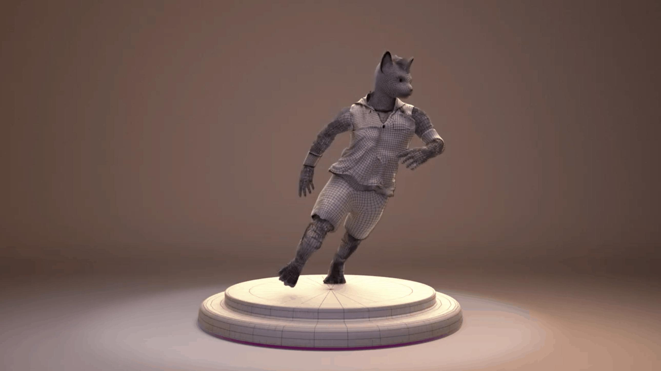 Humanoid feline – modelado 3D