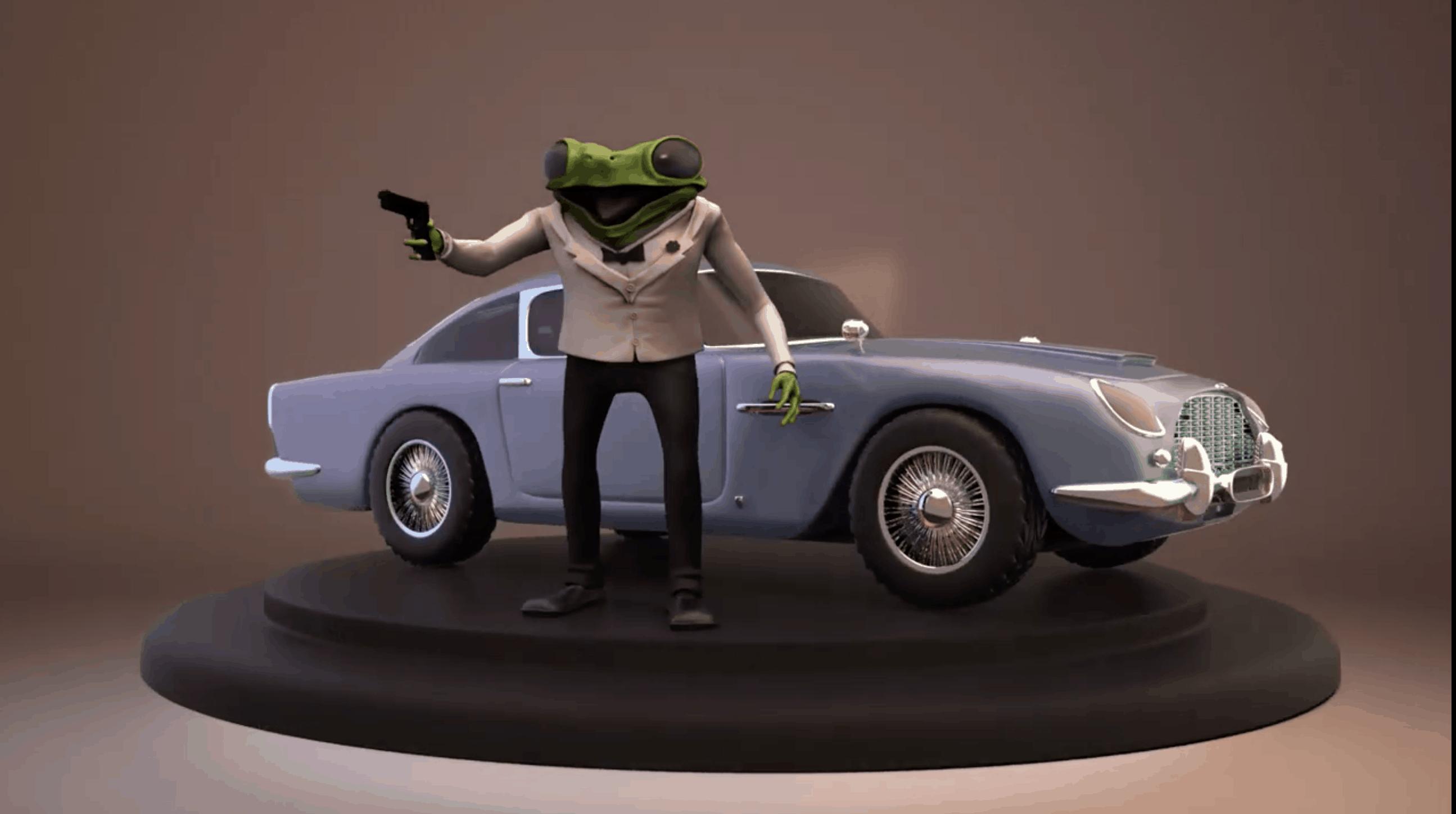 James Frog y su Aston Martin DB5 – modelado 3D