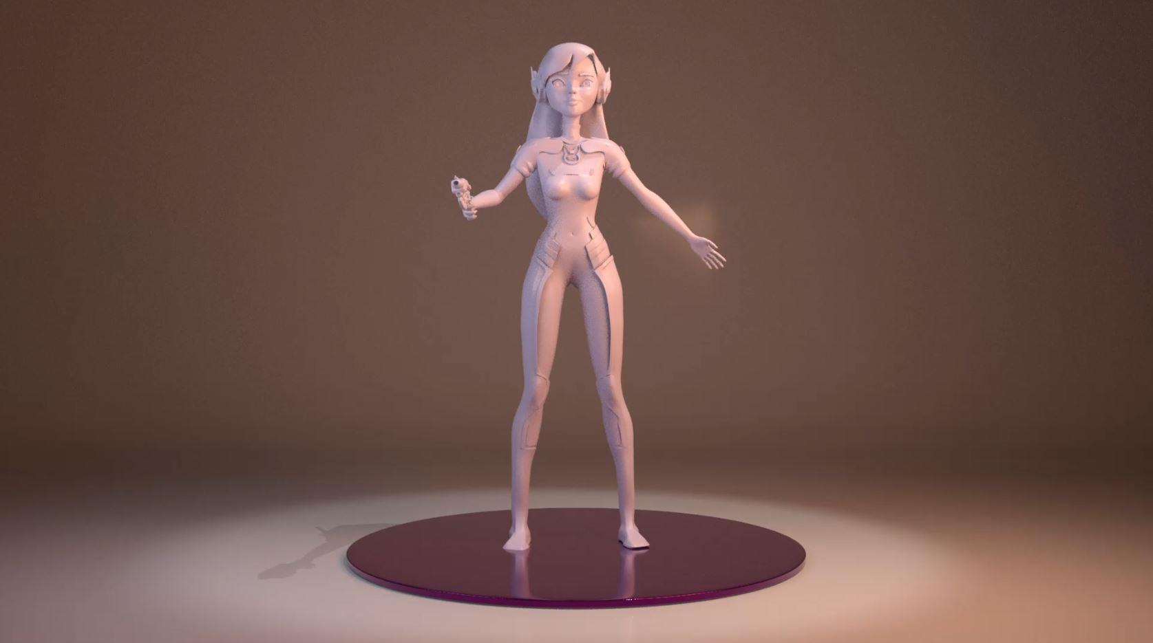 D.Va – Modelado 3D